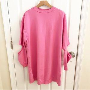 Asos Oversized Sweatshirt In Bubblegum Pink